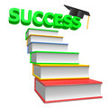 3d Icon Of Graduation And Books Royalty Free Stock Photography - 11690927