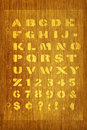 Stencil On Wood Type Stock Photography - 11693672