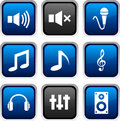Audio Icons. Royalty Free Stock Images - 11705209