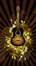 Floral Abstract With Guitar Royalty Free Stock Photos - 11720578