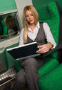 Businesswoman In Train Royalty Free Stock Photos - 11743868