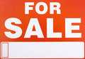 Sign �For Sale� Royalty Free Stock Images - 11754579