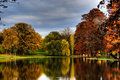 Park In Autumn, Trees And Lake Royalty Free Stock Photography - 11755127