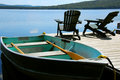 Chairs Boat Dock Stock Images - 1189674