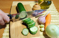 Chopping Cucumber Stock Images - 11810444