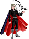 Young Charming Vampire With Bats Isolated O Royalty Free Stock Image - 11813196
