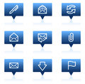 E-mail Web Icons, Blue Speech Bubbles Series Stock Images - 11819434