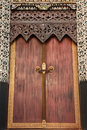 Traditional Thai Style Church Door Stock Photo - 11871480