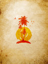 Tropical Island On The Wall Royalty Free Stock Photos - 11881478