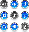 Audio Icons. Royalty Free Stock Photo - 11900855