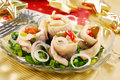Herring Rolls With  Chive And Onion For Christmas Royalty Free Stock Image - 11905606