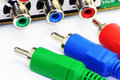 RGB Video Connectors Royalty Free Stock Photo - 11913005