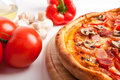 Mushroom And Bacon Pizza Stock Images - 11921774