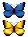 Blue And Yellow Butterflys Royalty Free Stock Images - 11931099
