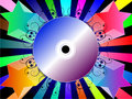 Colorful Background With Music CD Royalty Free Stock Image - 11946316