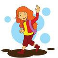 Girl Going To School Royalty Free Stock Image - 11969016