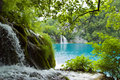 Waterfalls And Lake Stock Image - 11982261