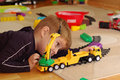 Small Boy Playing With Toy Truck Stock Photos - 11990023