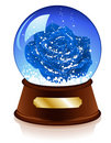 Christmas Sphere With Blue Rose Inside Stock Photography - 11998922