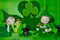 Lucky Leprechauns Stock Photography - 12025902
