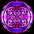 Stained Glass Vitrage With Abstract Pattern Royalty Free Stock Photography - 12031287
