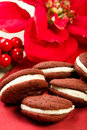 Red Velvet Whoopie Pies Stock Image - 12056951
