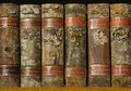 Xylotheca Wooden Books At The Shelf Royalty Free Stock Photos - 12080798