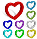 3D Vector Hearts Collection. Royalty Free Stock Images - 12082079
