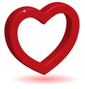 3D Glossy Red Heart. Stock Photography - 12082082