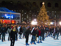 Tree Lighting And Skaters Bryant Park Royalty Free Stock Images - 12082239