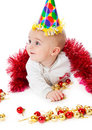 Little Boy Wearing A Santa Hat Royalty Free Stock Images - 12091769