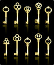 Antique Keys Collection Royalty Free Stock Image - 12098256