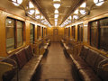 Inside Of An Old Subway Car Royalty Free Stock Image - 1214186