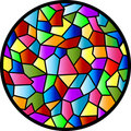 Stained Glass Circular Window Royalty Free Stock Images - 12101479