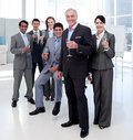 Business People Toasting With Champagne Royalty Free Stock Photography - 12119877