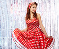Pin-up Girl. American Style Royalty Free Stock Image - 12141966