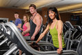 Men And Women At The Gym Stock Photography - 12152162