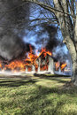 House Fire Royalty Free Stock Images - 12156169