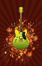 Floral Abstract With Guitar Royalty Free Stock Photos - 12188438