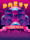 Party Flyer Card Royalty Free Stock Image - 12197476