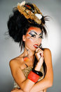 Asian Model With Body Art Royalty Free Stock Photo - 12198925