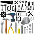Tools Big Set Royalty Free Stock Photography - 12205137