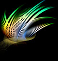 Abstract Composition Of Curved Bands Royalty Free Stock Photos - 12208788