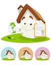 House Cartoon Mascot - Certificate Royalty Free Stock Images - 12219189