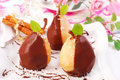 Pears Poured With Chocolate Royalty Free Stock Photo - 12248835