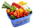 A Shopping Basket Full Of Fresh Produce Royalty Free Stock Photography - 12252587