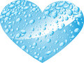 Heart From Water Drops Stock Images - 12255044