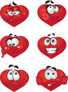 Set Of Butch Heart Smiles Stock Photography - 12255082