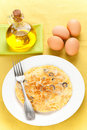 Mushrooms Olives And Potatoes Omelette Stock Photography - 12268392