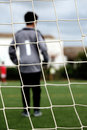 Goalkeeper On The Soccer Field Royalty Free Stock Image - 12289976